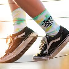 Alphabet Soup Good Vibes Sock