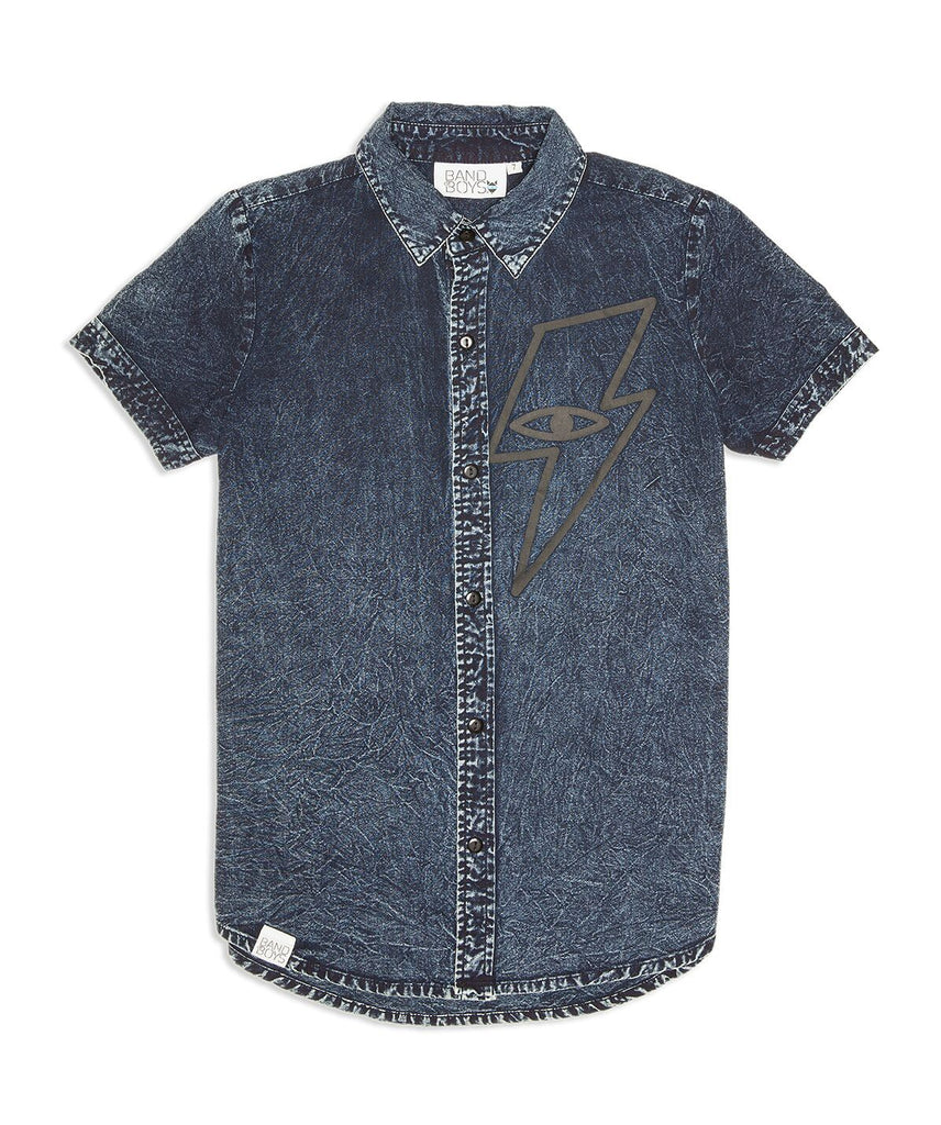 Band Of Boys Lightning Strike Blue Denim Shirt
