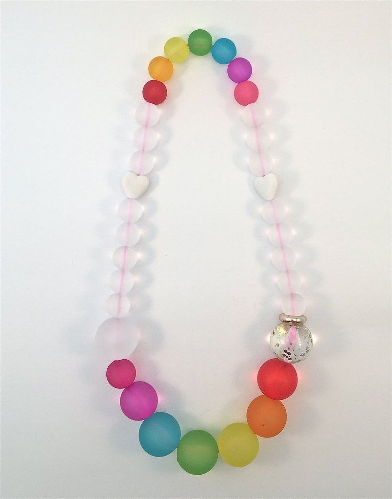 Red Bobble Over the Rainbow (Chunky) Necklace