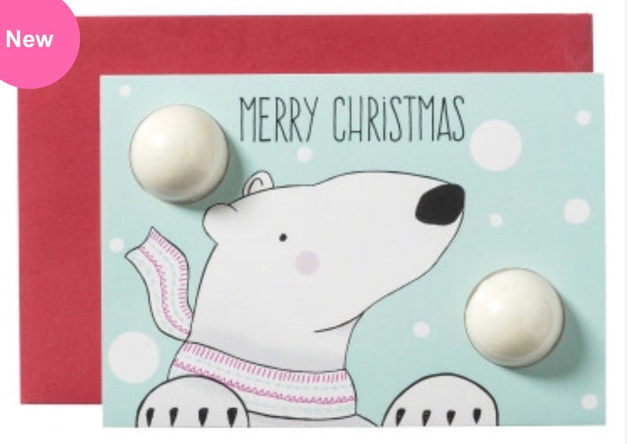 Merry Christmas Polar Bear Blaster Card