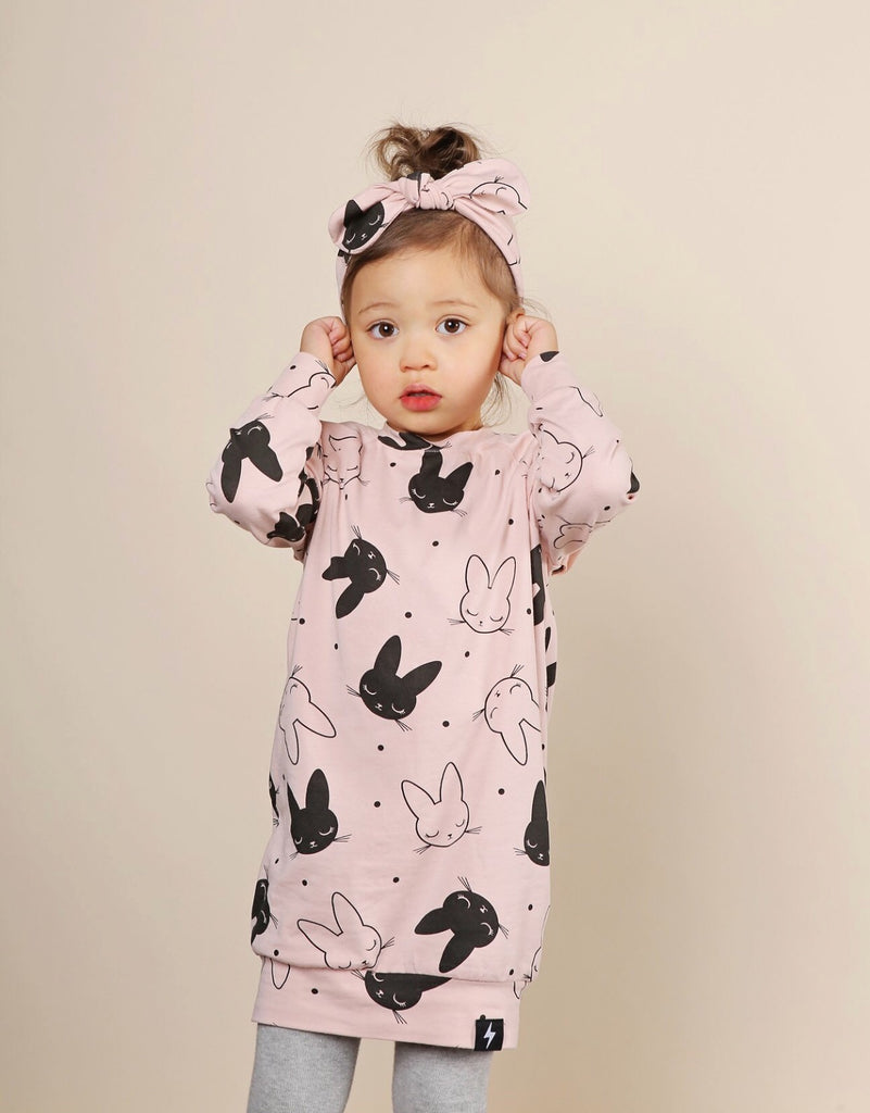 Kapow Kids Sleepy Bunny Sweatdress