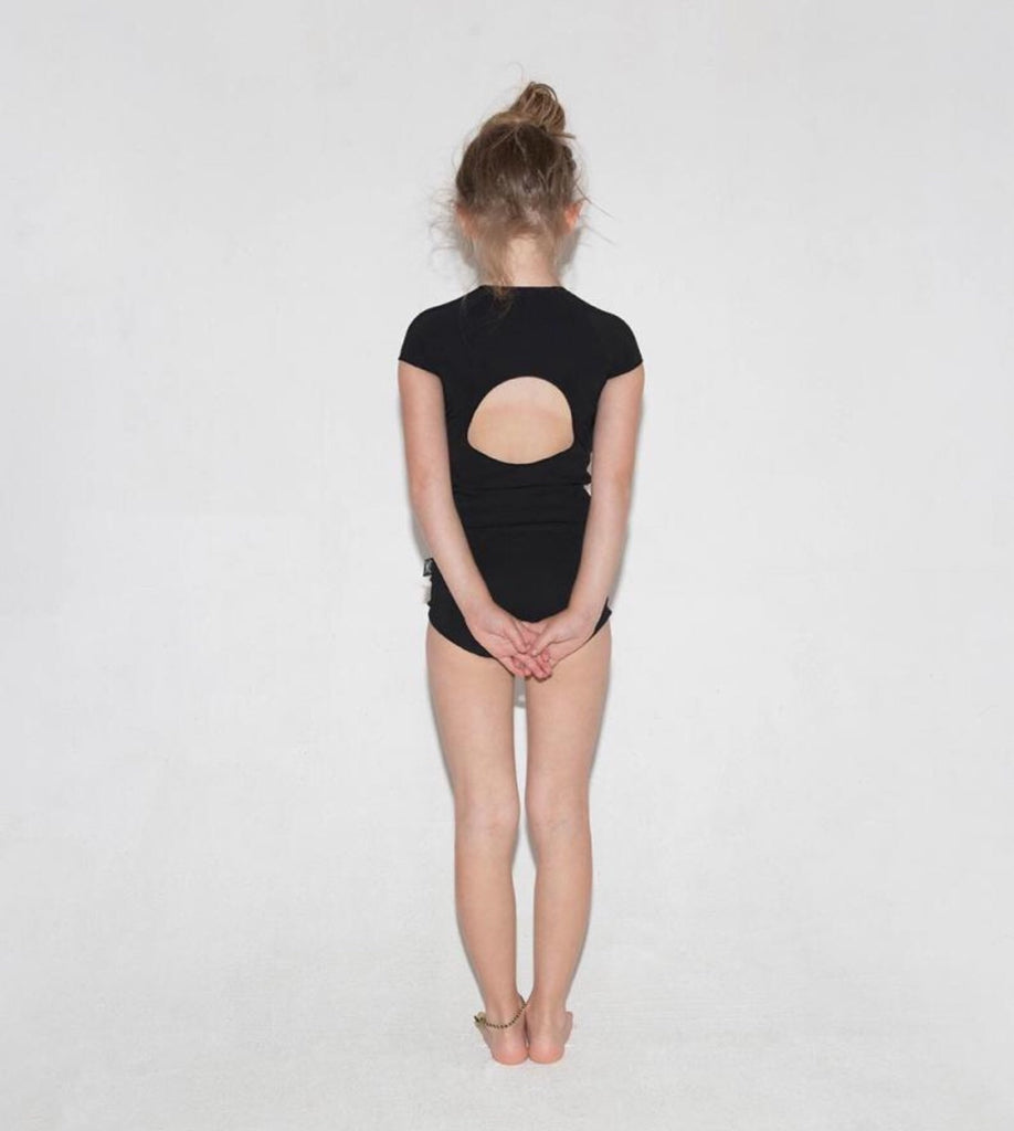 Nununu Circle Shirtini In Black