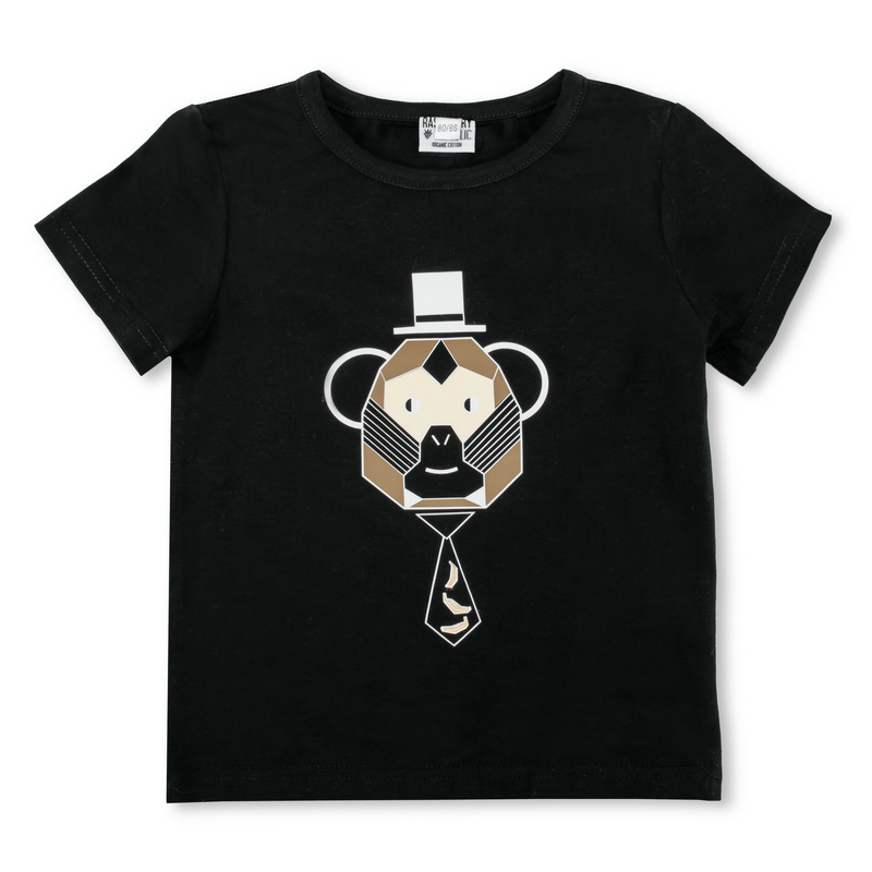Raspberry Republic Monkey Business Black Short Sleeve Tee