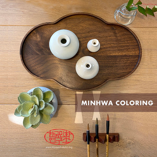 Four Virtual Minhwa Coloring Workshops - 4 Sessions Set with 4 Drawings & Boards