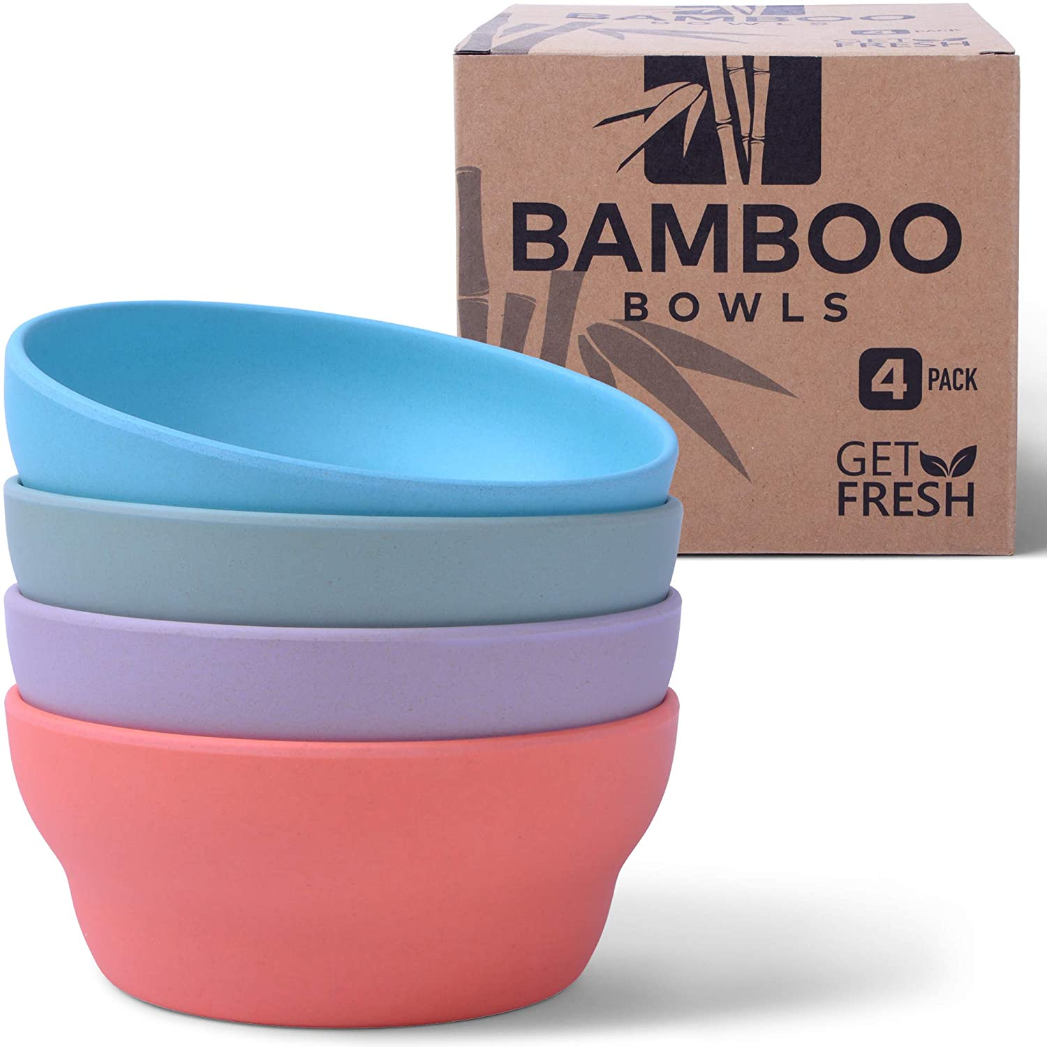 Adult-sized bamboo bowls