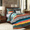 Lush Decor Boho Stripe 7 Piece Comforter Set