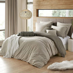 Hotel Quality Microfiber Extra Soft Reversible Crinkle Duvet Cover Set