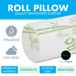 2 Pack Bamboo Cervical Neck Roll Memory Foam Pillow, Bolster Pillow, Round Neck Pillows Support for Sleeping | Bolster Pillow for Bed, Legs, Back and Yoga