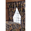 Regal Comfort The Woods Black Camouflage 5-Piece Curtain Set Hunters, Cabin or Rustic Lodge
