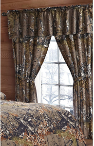 Regal Comfort The Woods Natural Green Camouflage 5-Piece Curtain Set Hunters, Cabin or Rustic Lodge