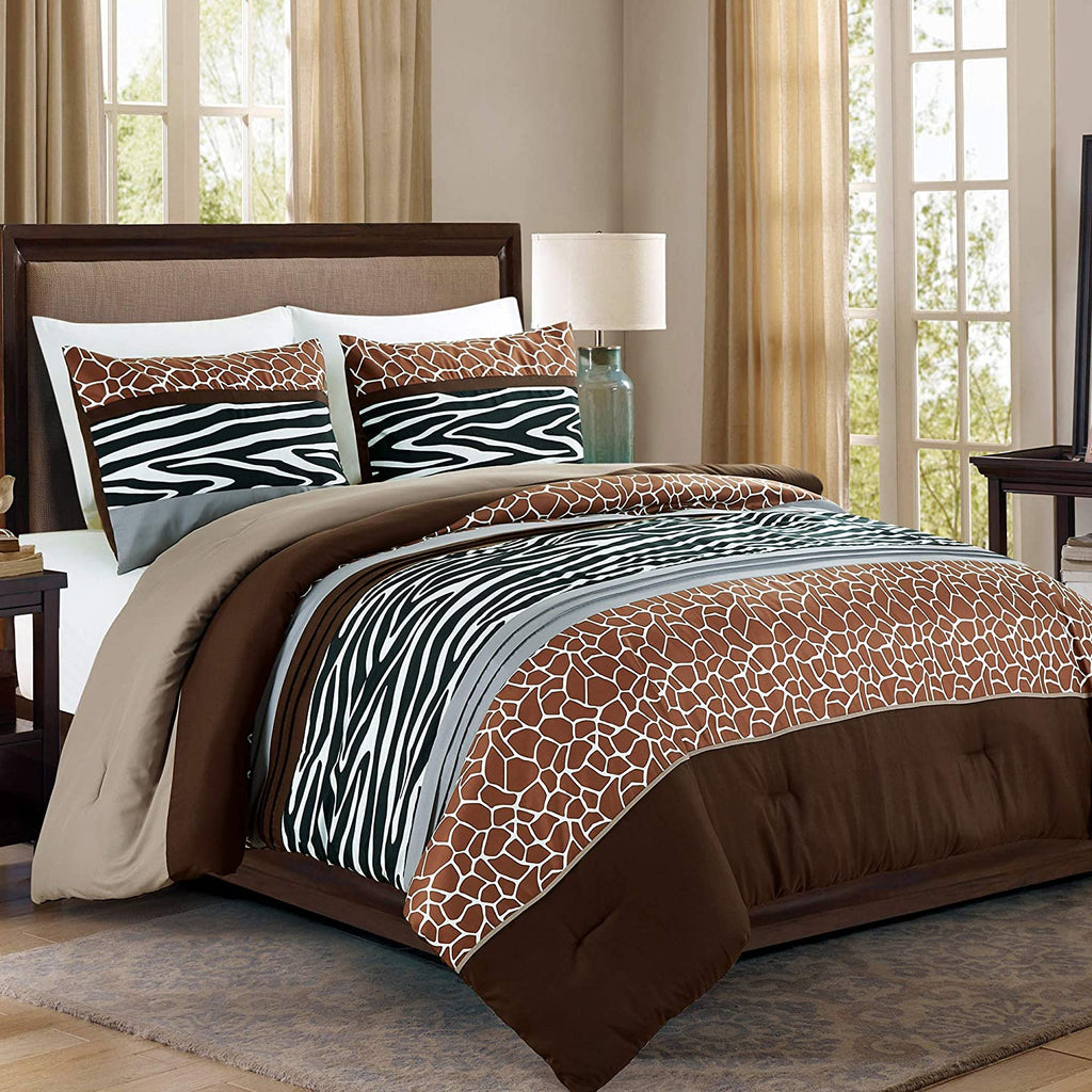 Safari Animal Print Bedding 3-Piece Comforter Set
