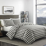 Eddie Bauer Black White Mountain Plaid Comforter Set