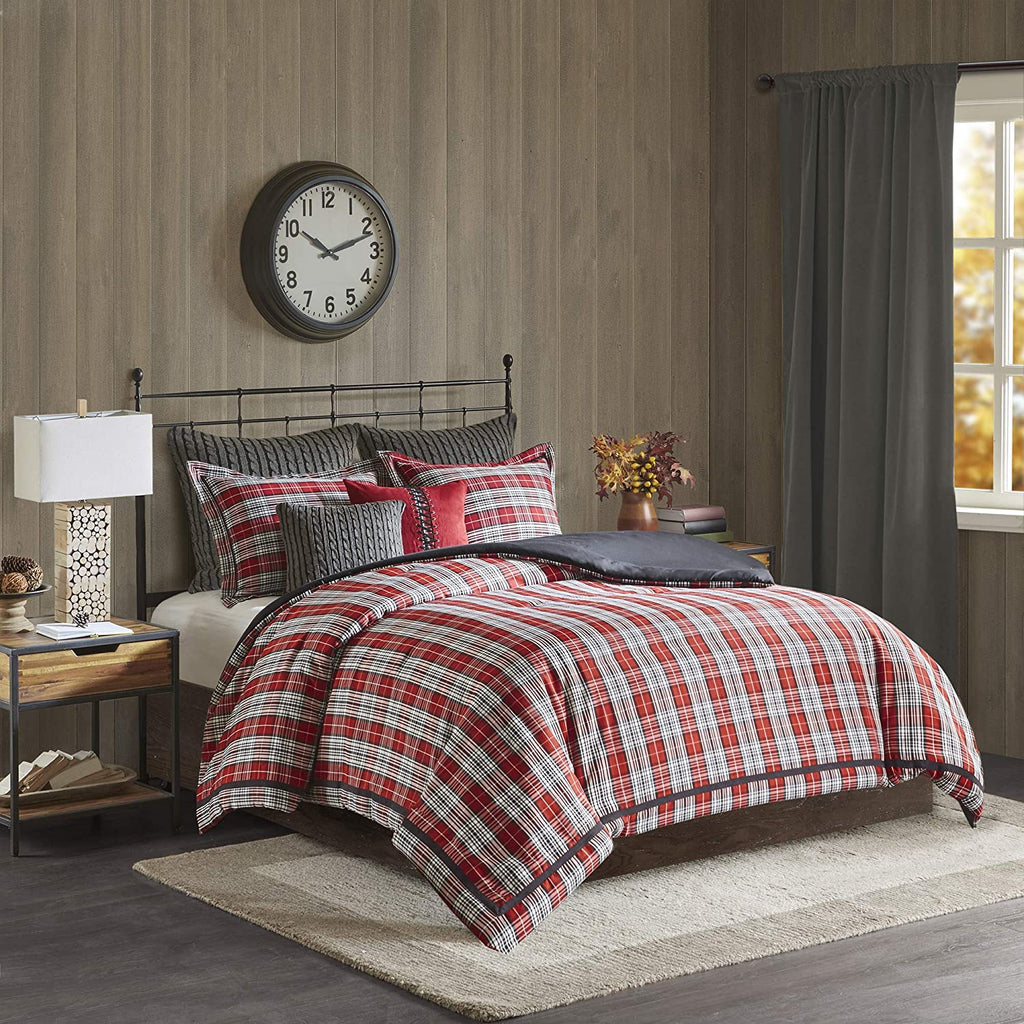 Williamsport Red Plaid 4-Piece Comforter Set
