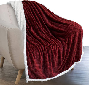 Premium Plush Chevron Sherpa Throw Blanket