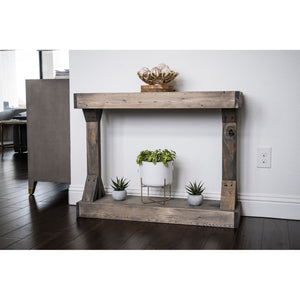 Barb Small Rustic Solid Wood Console Table by Del Hutson Designs