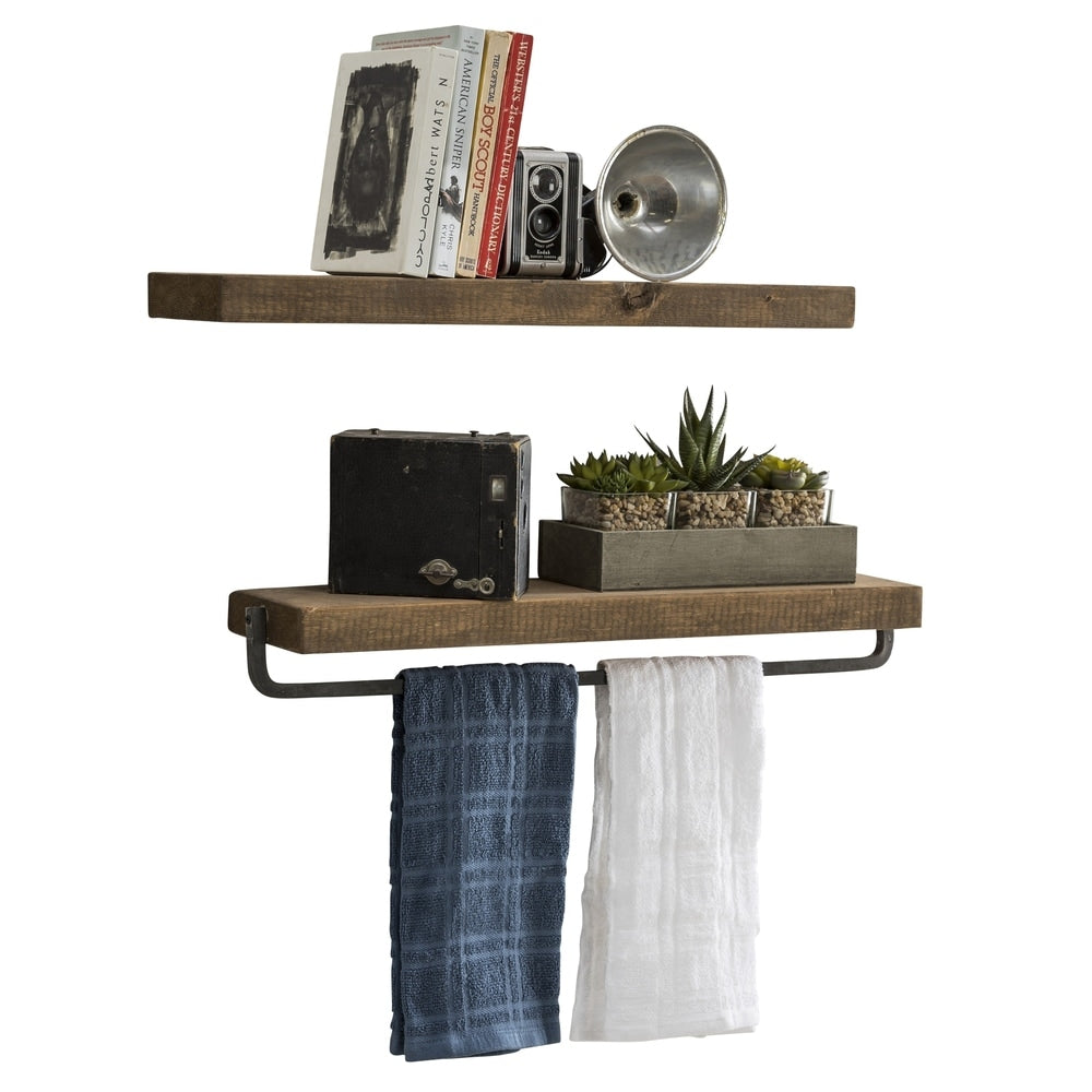 Del Hutson Designs True Floating Shelf and Towel Rack