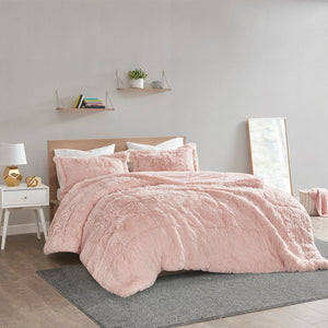 Malea Soft Plush Shaggy Faux Fur Comforter Set