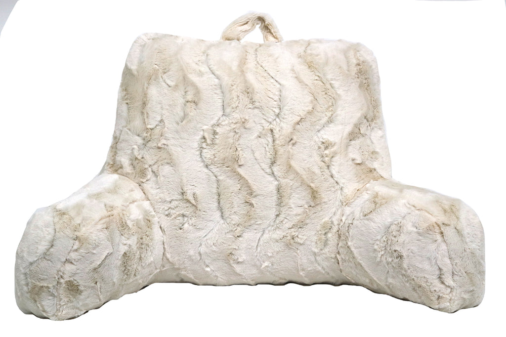 Stylish Ultra-Soft Bed Rest Homes & Gardens Swirls Faux Fur Backrest Pillow