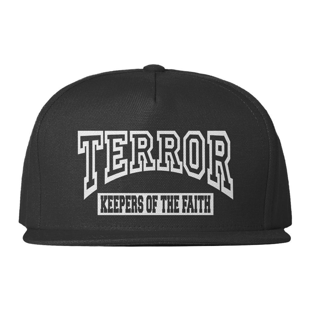 """Keepers Of The Faith"" Embroidered Black Snapback"