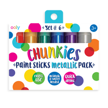 Load image into Gallery viewer, Chunkies Metallic Paint Sticks Set/6