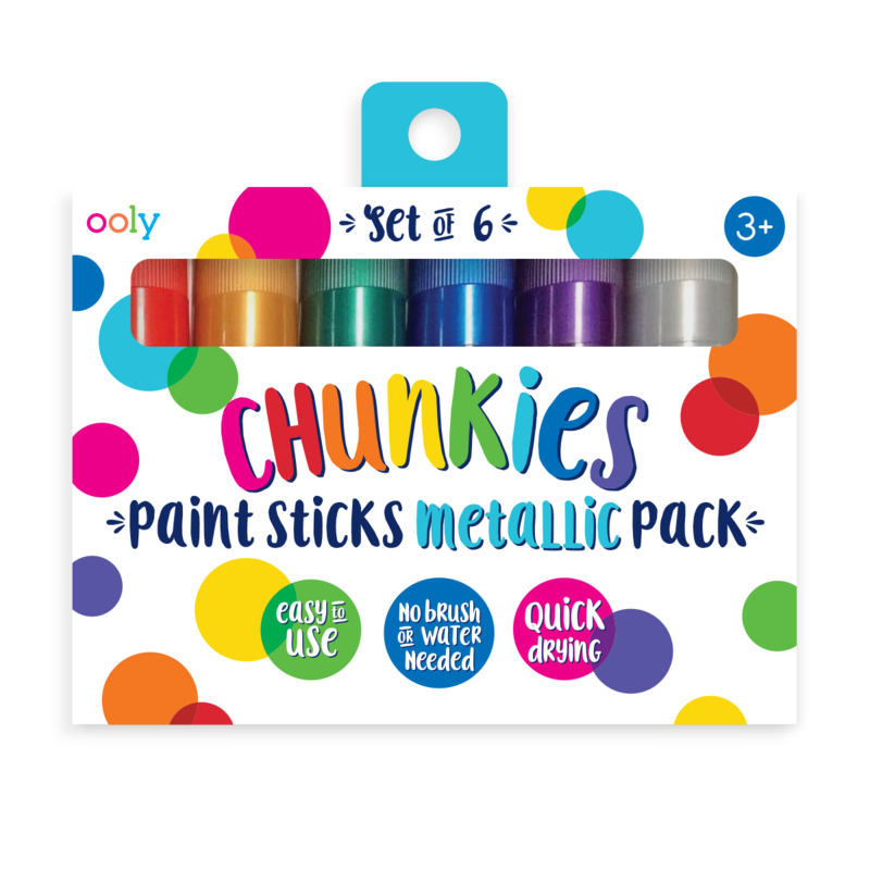 Chunkies Metallic Paint Sticks Set/6