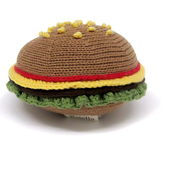 Organic Hamburger Rattle