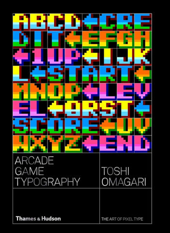 A photo of the artbook Arcade Game Typography: The Art of Pixel Type