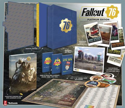 A photo of the artbook Fallout 76: Prima Official Platinum Edition Guide