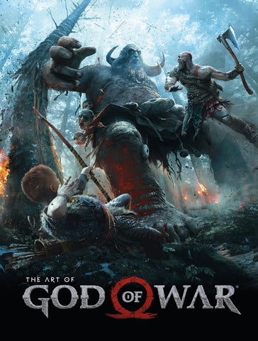 A photo of the artbook The Art of God of War