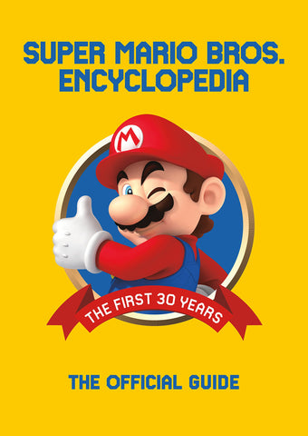 A photo of the artbook Super Mario Encyclopedia: The Official Guide to the First 30 Years