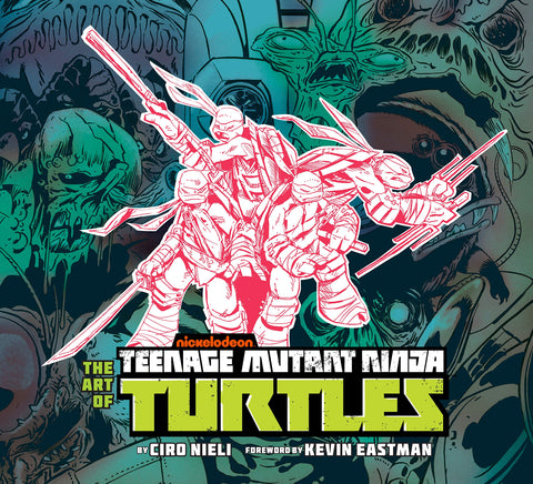 A photo of the artbook The Art of Teenage Mutant Ninja Turtles