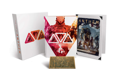 A photo of the artbook The Art of Anthem Limited Edition
