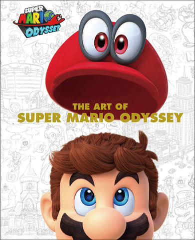 A photo of the artbook The Art of Super Mario Odyssey