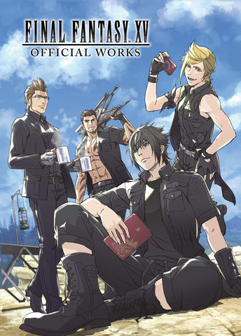 A photo of the artbook Final Fantasy XV Official Works