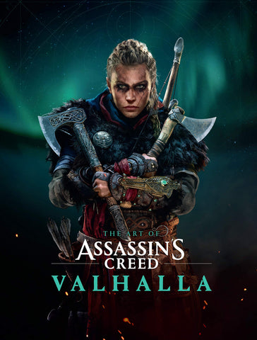 A photo of the artbook The Art of Assassin's Creed Valhalla