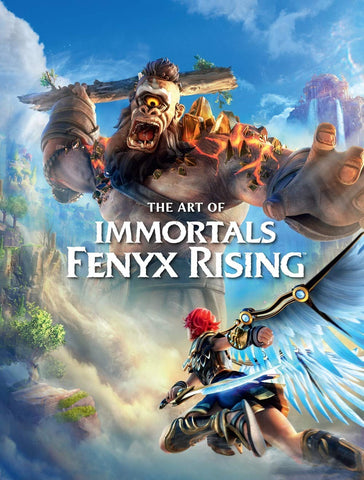 A photo of the artbook The Art of Immortals: Fenyx Rising