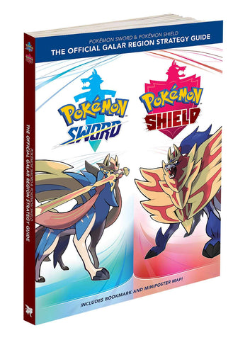 A photo of the artbook Pokémon Sword & Pokémon Shield: The Official Galar Region Strategy Guide: Collector's Edition