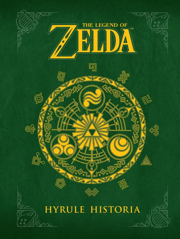 A photo of the artbook The Legend of Zelda: Hyrule Historia