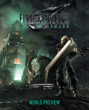 A photo of the artbook Final Fantasy VII Remake: World Preview