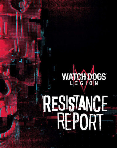 A photo of the artbook Watch Dogs Legion: Resistance Report