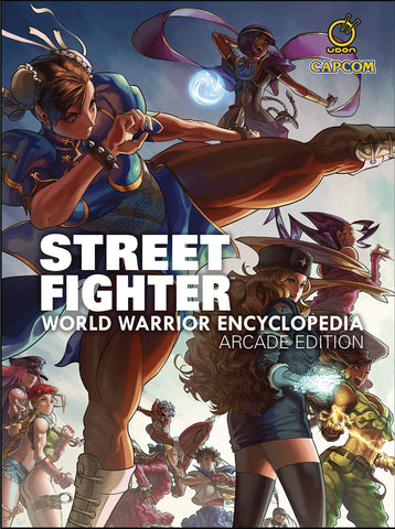 A photo of the artbook Street Fighter World Warrior Encyclopedia - Arcade Edition Hc