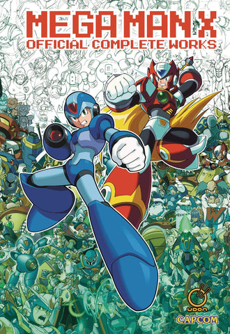 A photo of the artbook Mega Man X: Official Complete Works Hc