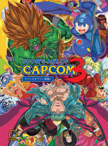 A photo of the artbook Udon's Art of Capcom 3 - Hardcover Edition