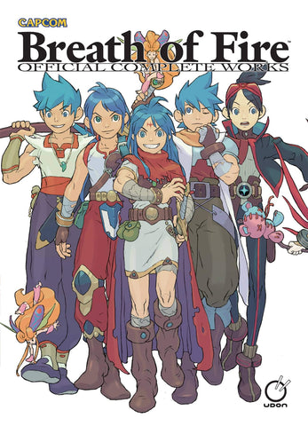 A photo of the artbook Breath of Fire: Official Complete Works Hardcover