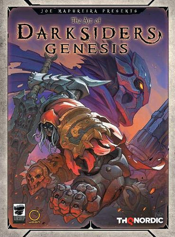 A photo of the artbook The Art of Darksiders Genesis