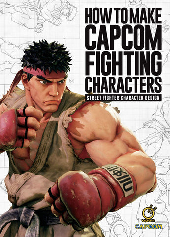 A photo of the artbook How to Make Capcom Fighting Characters: Street Fighter Character Design