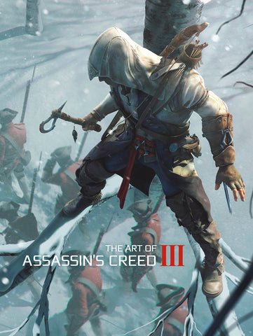 A photo of the artbook The Art of Assassin's Creed III