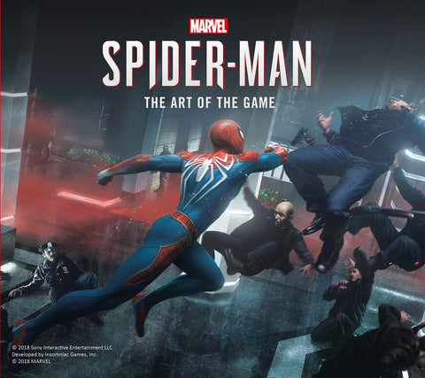 A photo of the artbook Marvel's Spider-Man: The Art of the Game