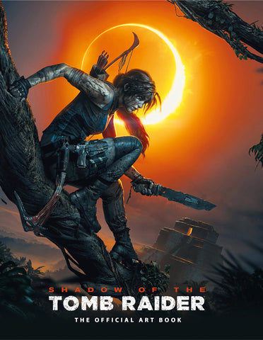 A photo of the artbook Shadow of the Tomb Raider the Official Art Book