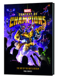 A photo of the artbook Marvel Contest of Champions: The Art of the Battlerealm